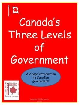 Acquaint students with federal, provincial/territorial, and municipal governments which govern Canada, as well as the various responsibilities and government officials of each level. This 2 page resource includes a chart for students to record their research about the names of the officials and their local representatives for each level.