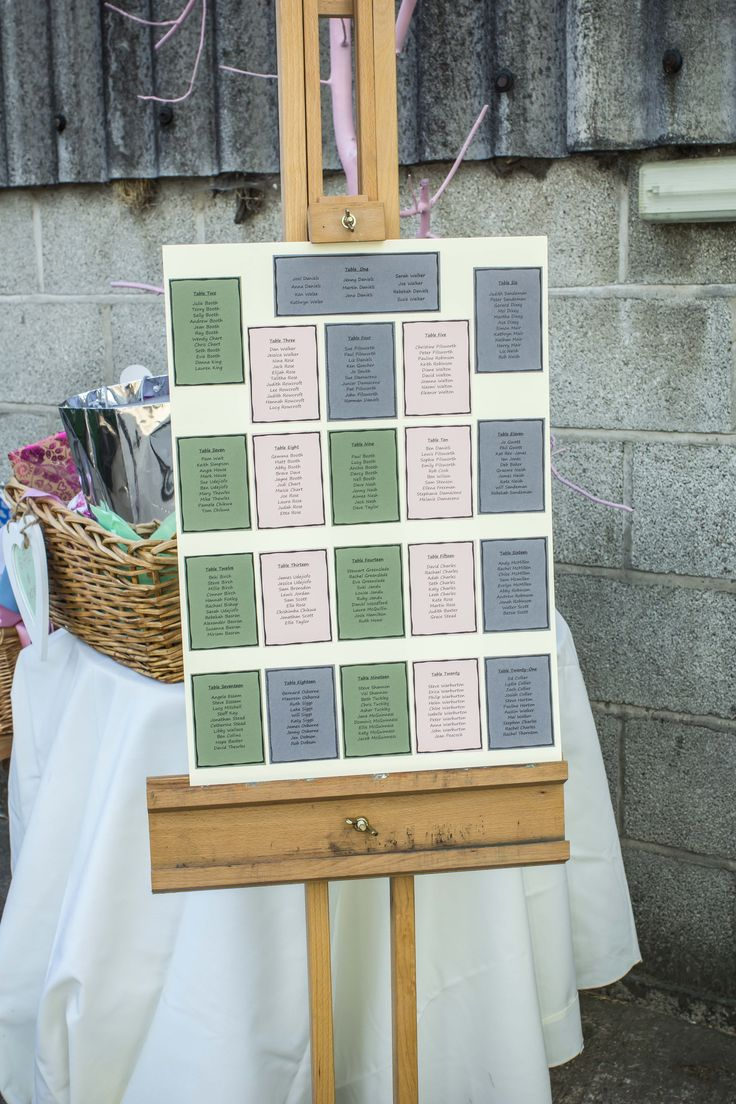 A wedding filled with loads of friends and family requires a lot of space on a seating plan.