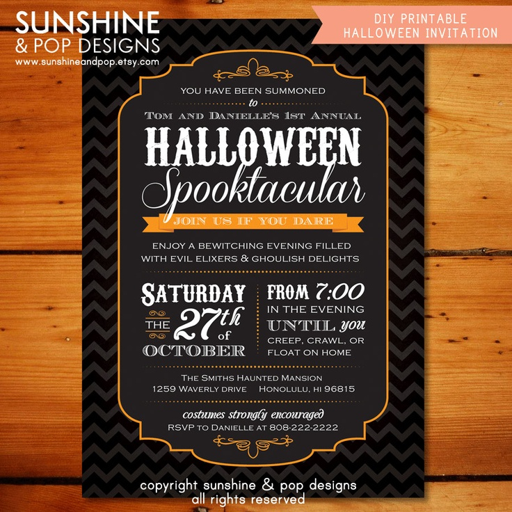 Fine Halloween Party Invitations Adults Image Collection ...