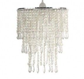 The 25 best beaded lamp shades ideas on pinterest bohemian lamp clear beaded chandelier lamp shade 1 aloadofball Images