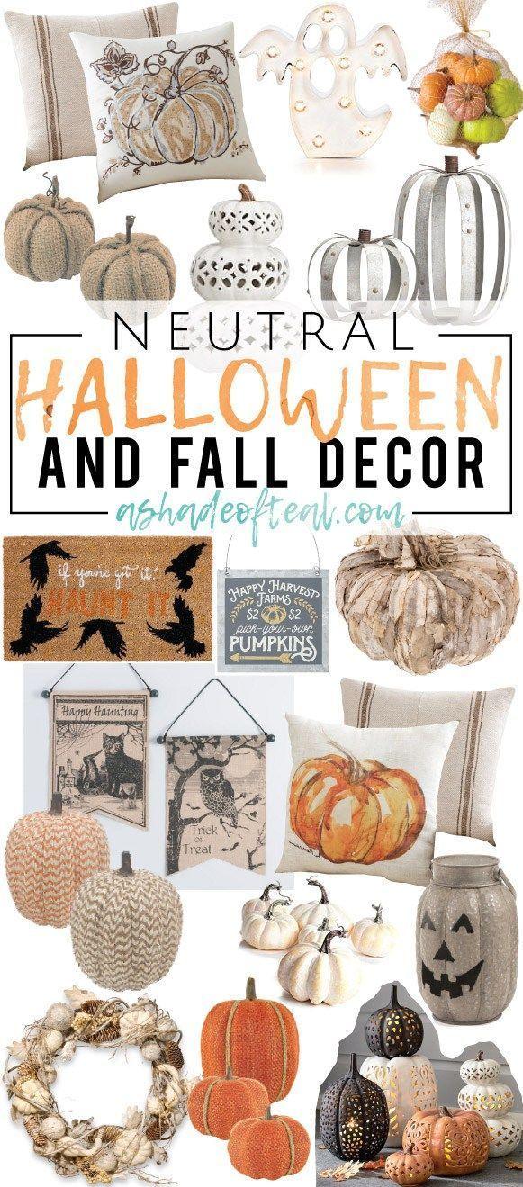 Neutral Halloween Decor! Ready to start your Halloween decorating - my halloween decorations