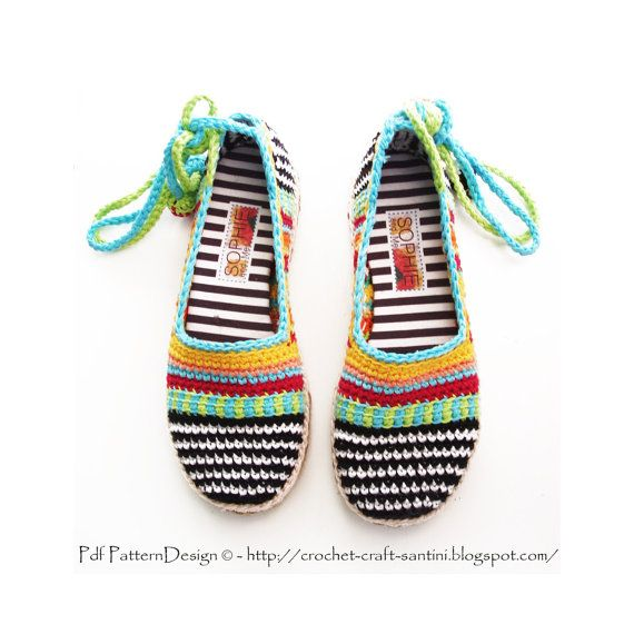 2in1-PACKAGE for Happy Scrap Crochet-Slippers, incl Handmade, Tailored CORD-Soles with Treatment. TOMS/ESPADRILLES. Patterns by PdfPatternDesign, €8.00