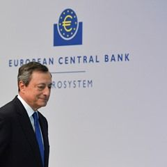 ECB President Mario Draghi holds a key interest rate press conference in Frankfurt