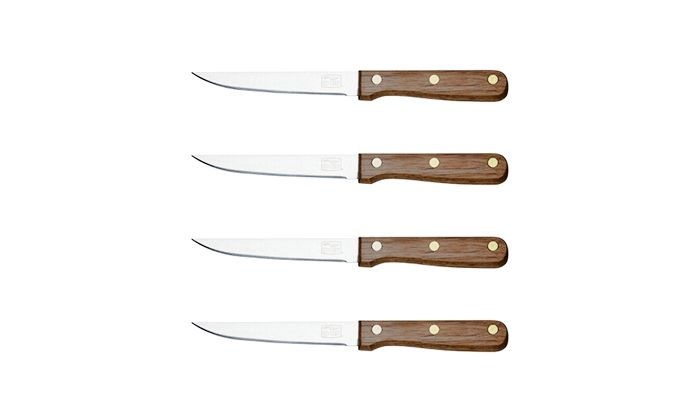 Best Starter Steak Knives: Chicago Cutlery® Walnut Tradition 4 Piece 4.5 Inch Steak Knife Set