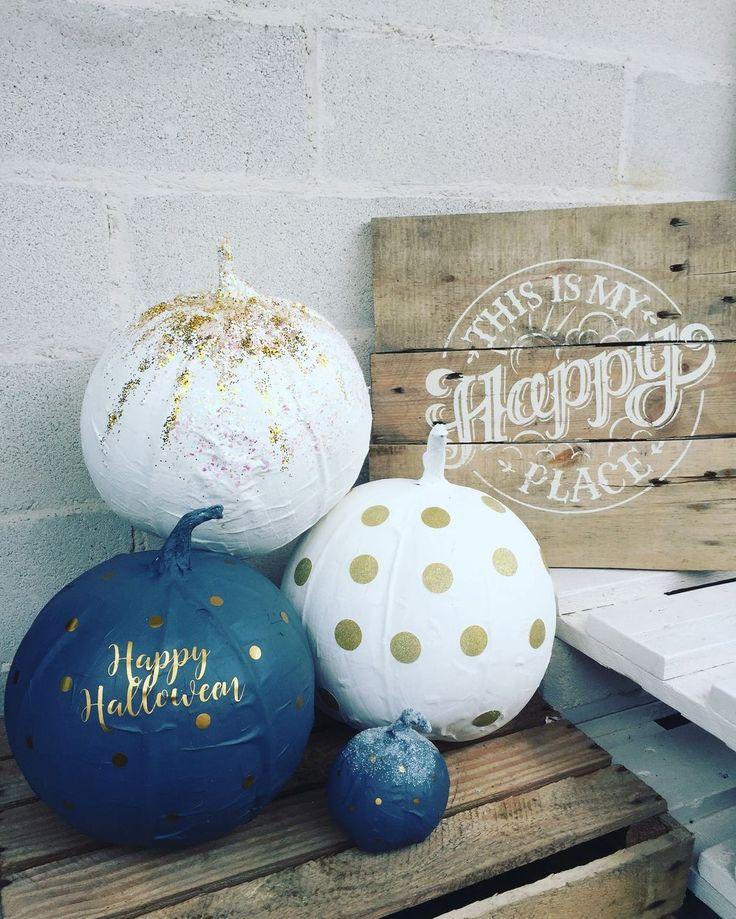 ALKEMISTEN DIY - www.alkemisten.net papier machie gör det själv pumpkin halloween blue pumpkin