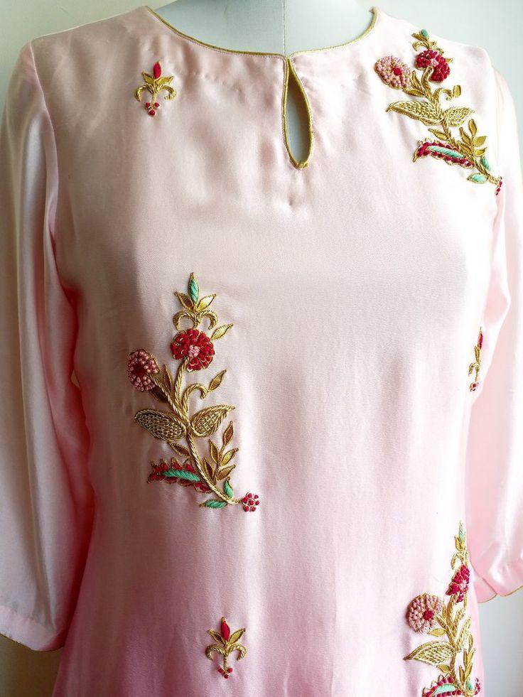 Silk Satin Double Layer Dress