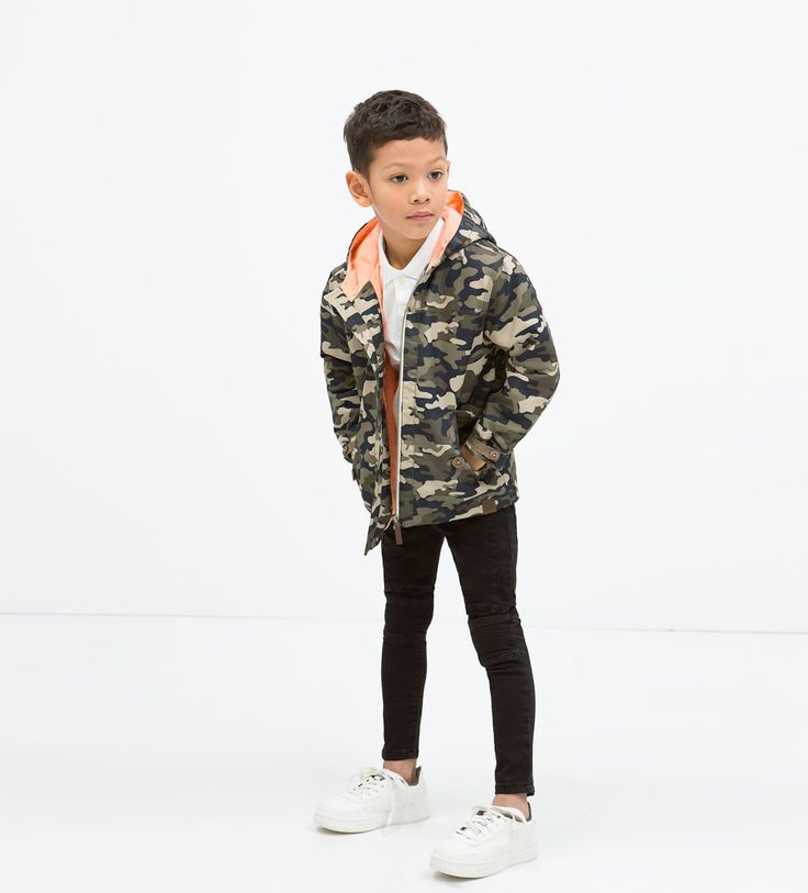 image 1 of camouflage jacket with pockets from zara boy. Black Bedroom Furniture Sets. Home Design Ideas
