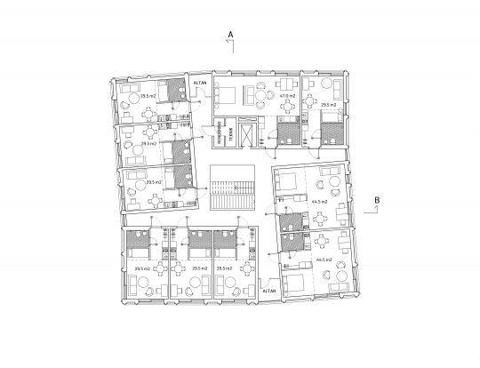 A:Aktuella projekt - Parallella uppdragStudentbostäder i Odens