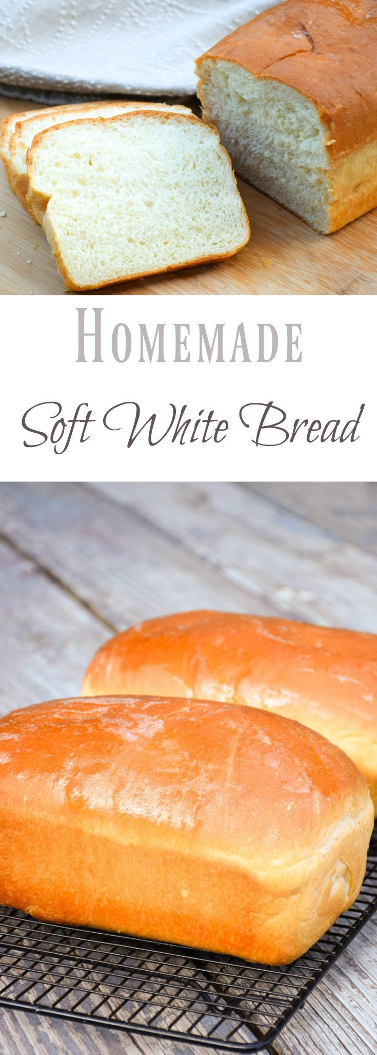 Soft and delicious, this bread homemade loaf of soft white bread will literally melt in your mouth! Top with real butter and jam for a delicious treat!