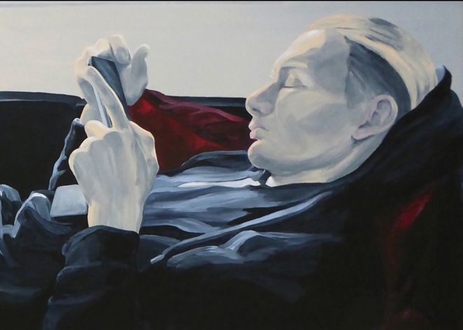 """Art of Britta Westhausen PORTRAIT NOW 2017 """"MARC ON THE COUCH"""" selected for the PORTRAIT NOW exhibition 2017 at THE MUSEUM OF NATIONAL HISTORY, Frederiksborg Castle, Denmark."""