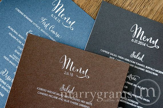 Whimsical style menus at Marrygrams.com! Find this and more when you click on the image.