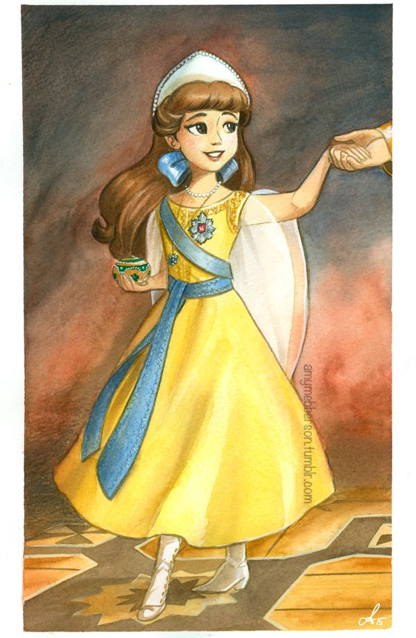 'Once Upon a December' by Amy Mebberson Watercolour. This will be for sale at A Little Known Shop's Don Bluth Tribute Show on Jan 24! Details here!