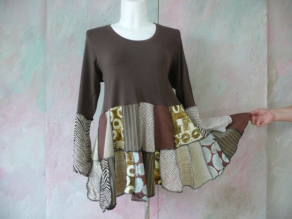 tunic plus size womans clothing  upcycling recyclingTunic upcyclingTunic 20 22