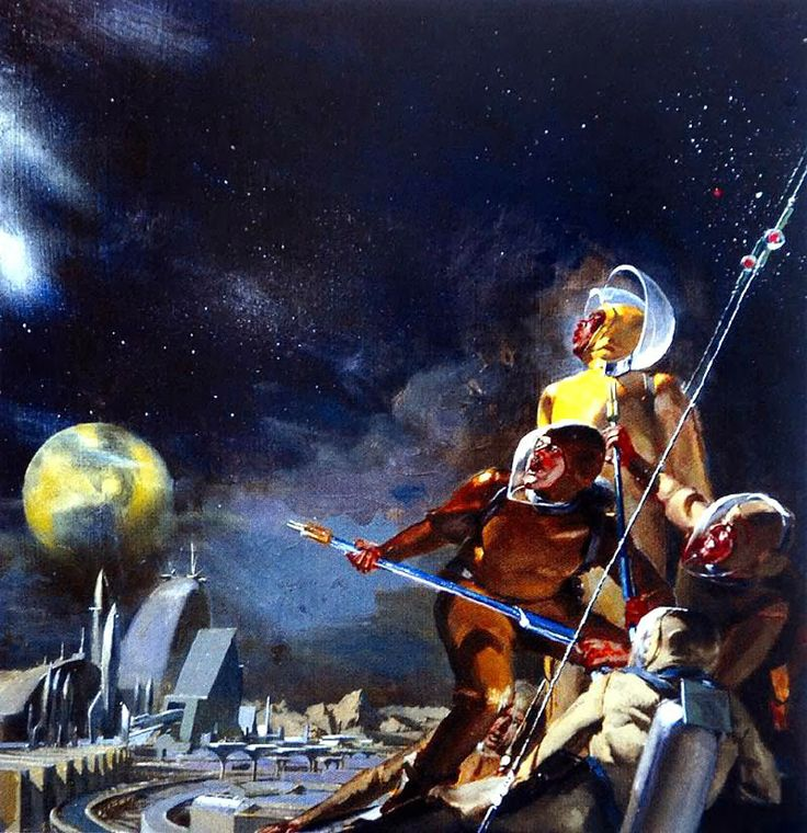 illustration, scifi, see more from this author>> http://3rd-art.blogspot.com.es/2014/01/stanley-meltzoff-1917-2006.html