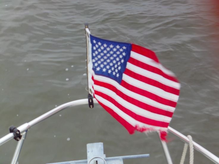 flags on boats