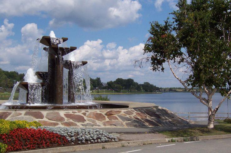 Fontaine du Lac Osisko.