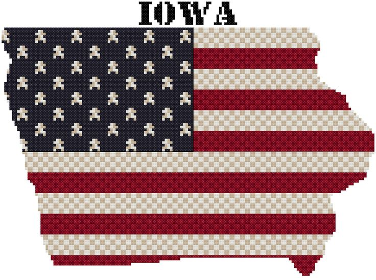 11 best auburn images on pinterest cross stitches crossstitch and cross stitch pattern of the state of iowa using weeks dye works and dmc floss fandeluxe Gallery