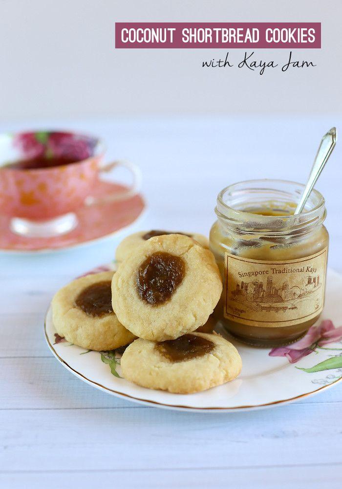 Coconut Shortbread Cookies With Kaya Jam