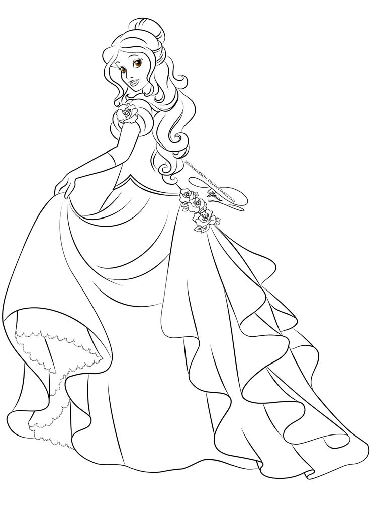 Lineart - Glamorous Fashion Belle by selinmarsou.deviantart.com on @deviantART
