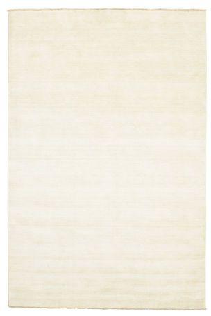 Handloom fringes - Naturvit matta 200x300