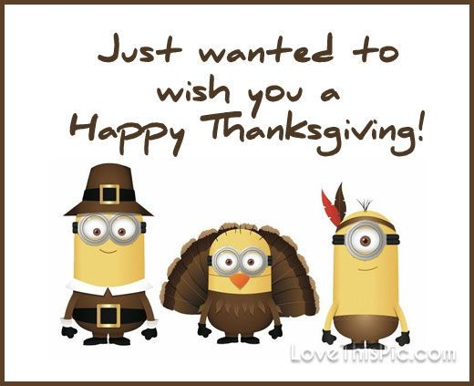 Just wanted to wish you a happy thanksgiving