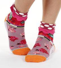 Monarch women's cotton turn-over crew socks   Designed in France by Dub & Drino