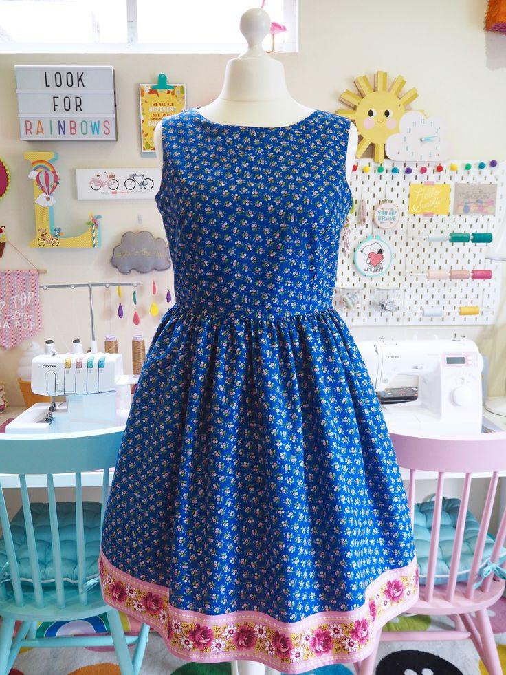 Made to Order Floral Border Print Dress - Ladies Handmade Dress