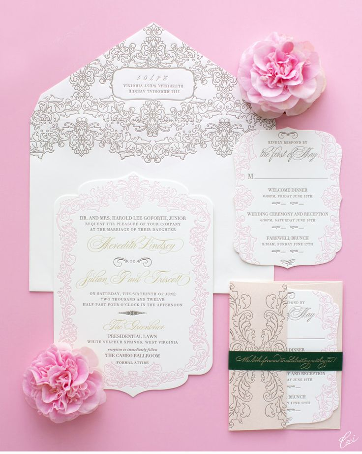 149 best Lace Wedding Invitations images on Pinterest | Card wedding ...