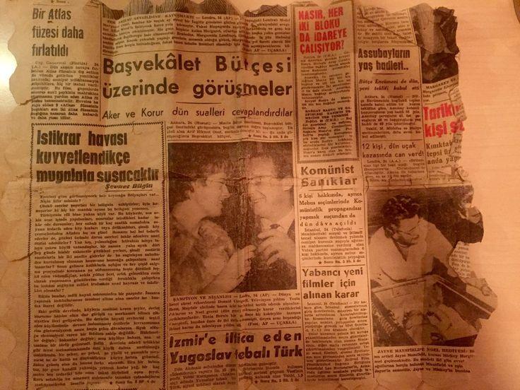 """Pınar Büyükbalcı on Twitter: """"İzmir'den aldığımız eski bir masa örtüsünün teyellendiği 1958 tarihli yerel gazeteden... Neler neler! @zen_saadet https://t.co/Lr3GzdoJTk"""""""
