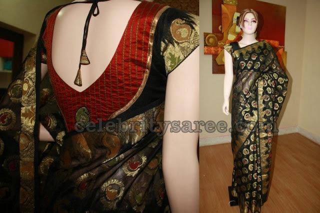 Banaras Sarees with Designer Blouses | Saree Blouse Patterns