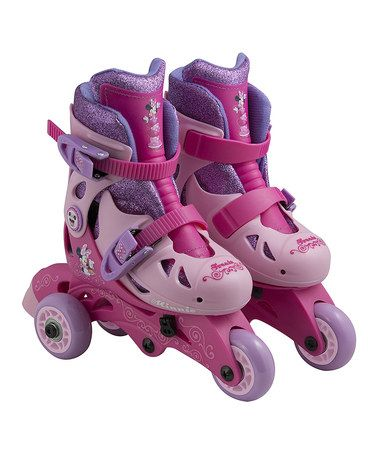 Look what I found on #zulily! Minnie Mouse Glitter Convertible Skates by Minnie Mouse #zulilyfinds