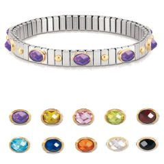 Nomination Extension Bracelet with Choice Of Cubic Zirconia - Bracelets - Silver Bracelets, Jewellery, Silver & Semi Precious. Free UK delivery - Something Elegant for Silver Jewellery