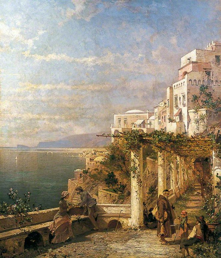 Amalfi, Golfe de Salerne c.1880 by Franz Richard Unterberger (Austrian 1838�1902):