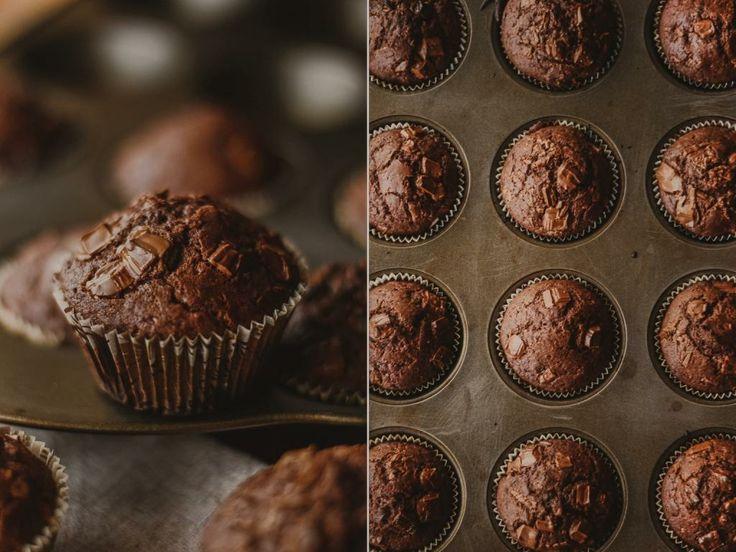 Шоколадно-шоколадные маффины