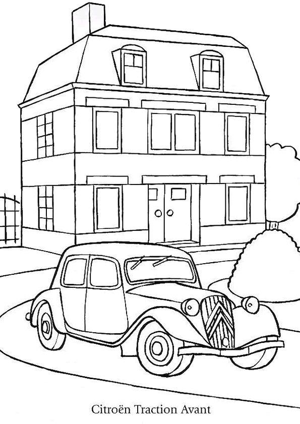 Les 104 meilleures images du tableau coloriages de voitures sur pinterest jeux coloriage - Voiture de sport a colorier ...