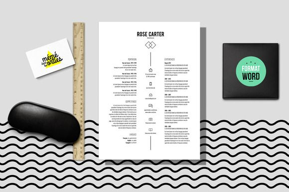 Check out CV, Resume template Word by MéméDansLesOrties on Creative Market