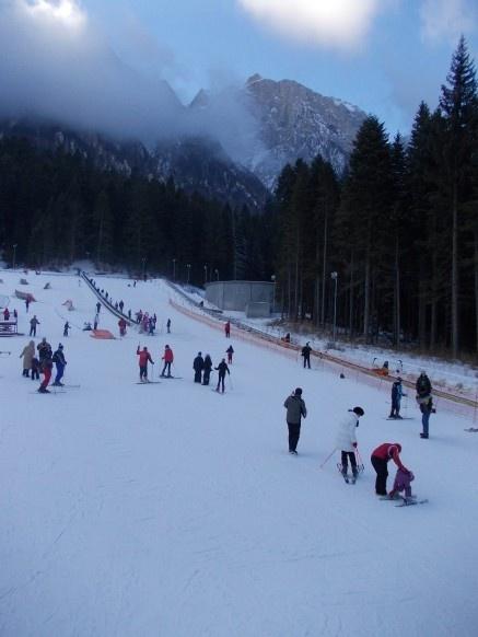The ski slope Kalinderu Busteni Romania