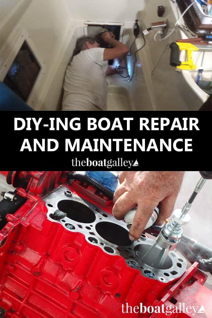 Diy Boat Repair Maintenance With Images Diy Boat Boat Galley Boat Plans