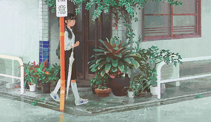 Jun Kumaori, aka 'KMR' and 'Jun Ayafuya,' is a Japanese artist based in Kyoto. Her paintings place solitary students in everyday surroundings. Kumaori adds an element of esc…