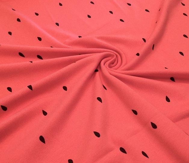 Sommerlicher Bio-Stoff, Jersey, im Wassermelonen-Stil / summerly fabric for your sewing projects: watermelon fabric made by rosie-und-hein  via DaWanda.com