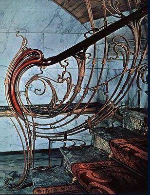 art nouveau architecture   Rampes d escaliers art nouveau