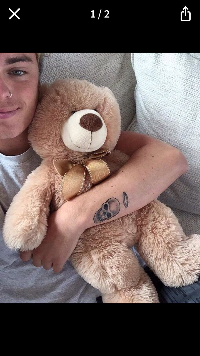 Jack Maynard and a teddy bear!