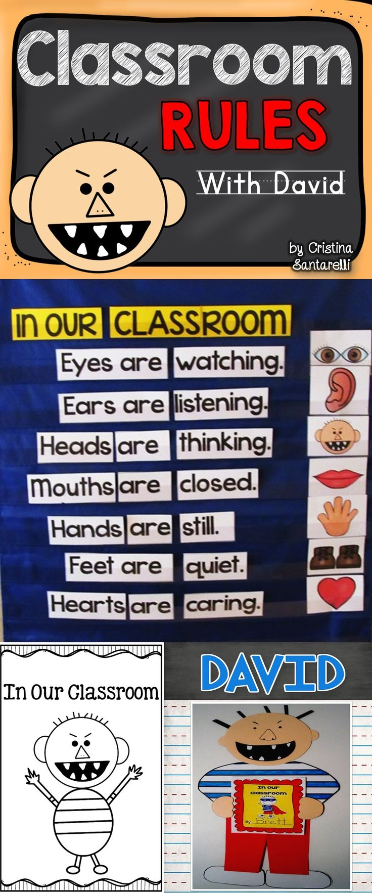 This David Classroom Rules Activity is now completely updated! This download is…