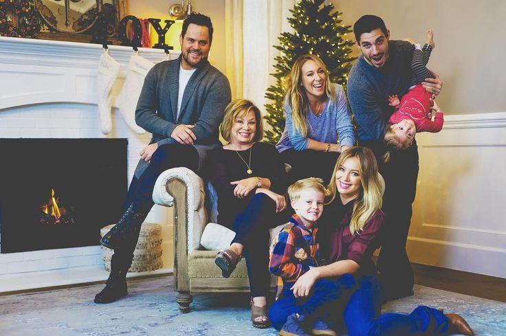 Mike Comrie, Susan Duff, Haylie Duff, Matt Rossenburg, baby Ryan Rosenberg, Luca Cruz Comrie & Hilary Duff