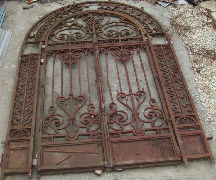 Wrought Iron Gates Vintage Antique Wrought Iron Gate