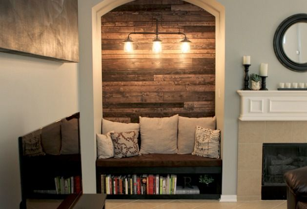 TV Nook Makeover - Alcove Before and After - Country Living