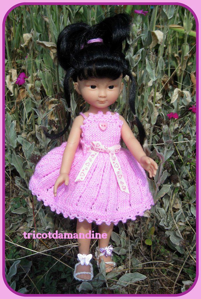 "jolie robe pour ""chéries ou paola reina "" tuto : http://tricotdamandine.over-blog.com/2015/09/chidori-et-sa-belle-robe.html"