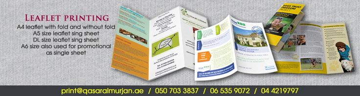 Here we are offering the best leaflet printing services at affordable price in Dubai.
