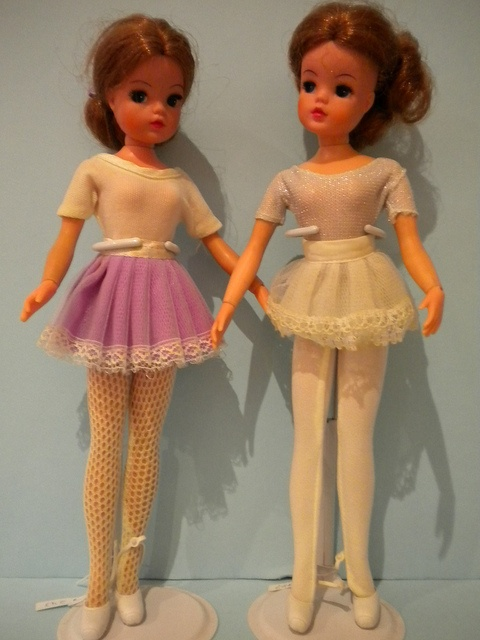 I had these :) Sindy dolls Dance & Sport - Ballerina 1975 & Ballerina 1978 - Pedigree by mad-about- fleur, via Flickr