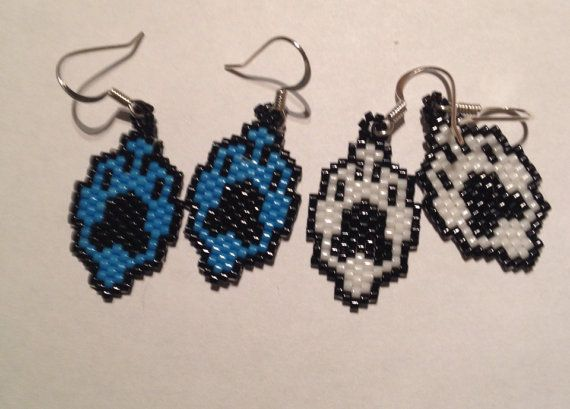 Wolf+paw+earrings+by+Wiswasca+on+Etsy,+$15.00